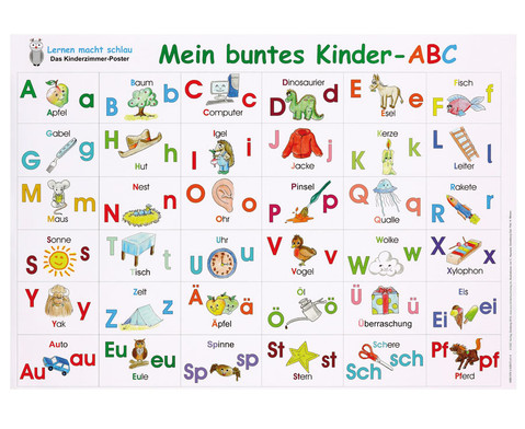 Mein buntes Kinder-ABC Poster