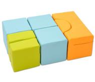 Mini-Soft-Bausteinsatz Milo, Bezug schwer entflammbar