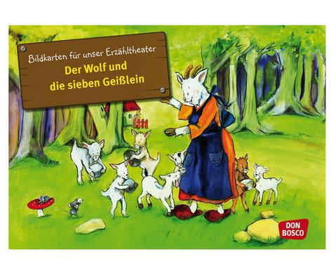 Bildkarten Der Wolf und die sieben Geisslein