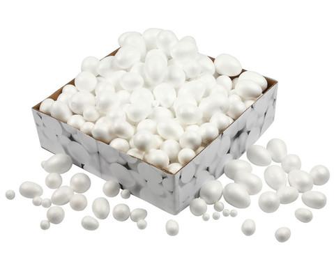 Styropor-Kugeln und -Eier Grosspackung 550 Stueck