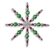 Draht-Sterne-Set Grün-Braun-Silber