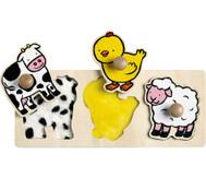 Krippen-Fühl-Puzzle Tiere