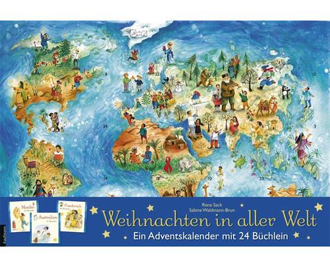 Weihnachten in aller Welt Adventskalender mit 24 Buechlein