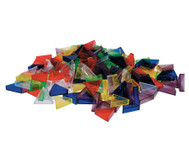 Transparente ECKO-Legesteine: große Dreiecke