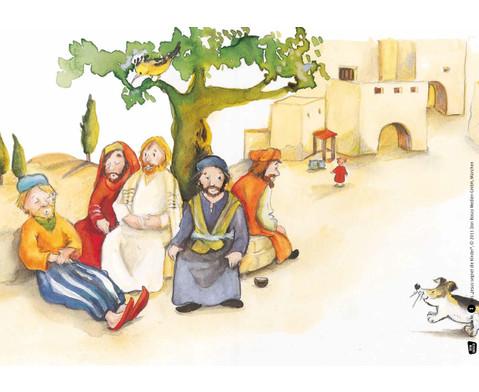 Bildkarten Jesus segnet die Kinder-3