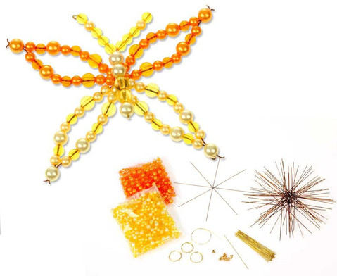 Schmetterling-Draht-Set orange-gelb