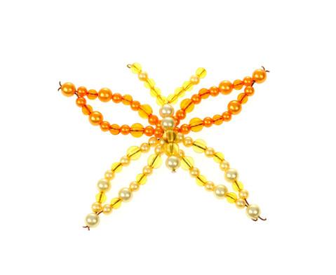 Schmetterling-Draht-Set orange-gelb-5