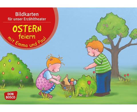 Bildkarten Ostern feiern mit Emma und Paul