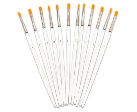 Synthetikhaar-Pinsel 12 Stueck-12