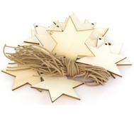 Weihnachtsanhänger Stern, 24 Stück, blanko
