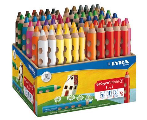 Lyra Groove Triple Box 72 Stifte in 18 Farben