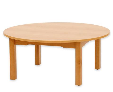 Betzold Runder Tisch Buche hell 64 cm hoch