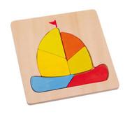 Puzzle Transportmittel 4er Set