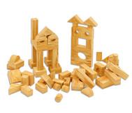 Softbausteine in Holzoptik, 68 Stück
