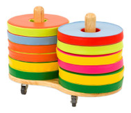Donut Sitzkissen-Set inkl. Stapelwagen