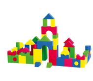 Softbausteine in bunten Farben, 68 Stück