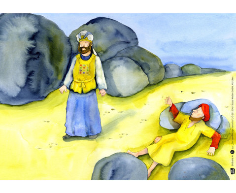 Bildkarten Der barmherzige Samariter-2