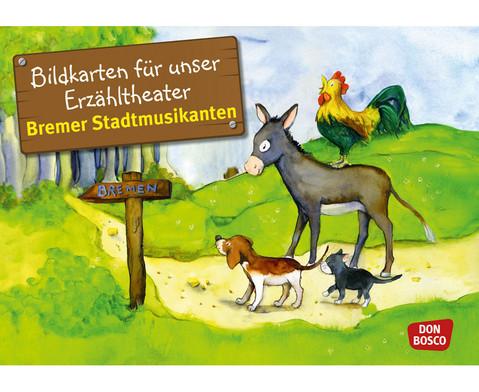 Bildkarten Bremer Stadtmusikanten