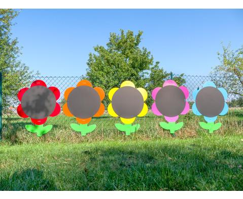 Blumen-Tafeln fuer In- und Outdoor 5er-Set