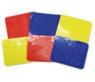Rubbelplatten, 6 Stück