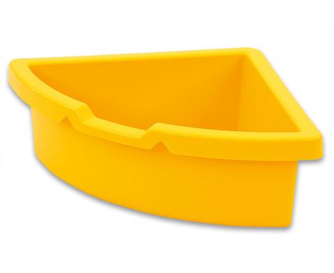 Aufbewahrungsbox dreieckig - gelb