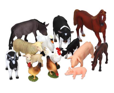Bauernhof Tiere 14-tlg Set