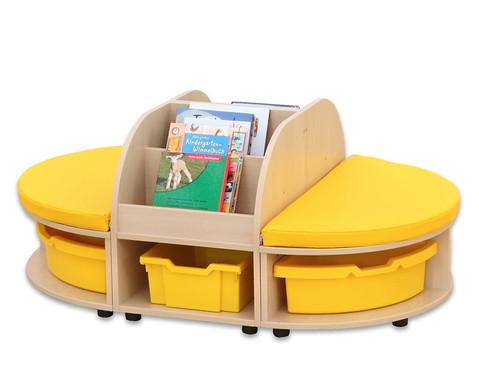 Maddox Sitzkombination 2 gelbe Sitzmatten-2