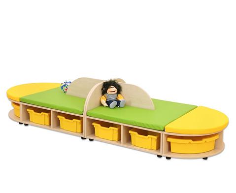 Maddox Sitzkombination 4 Sitzmatten gelb-gruen-2