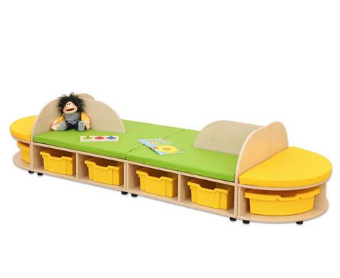 Maddox Sitzkombination 4 Sitzmatten gelb-gruen-3