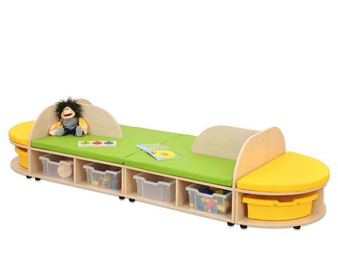 Maddox Sitzkombination 4 Sitzmatten gelb-gruen-6
