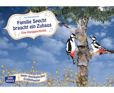 Bildkarten Familie Specht braucht ein Zuhaus-1