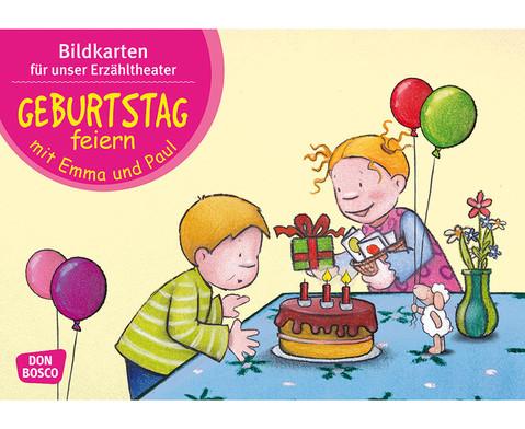 Bildkarten Geburtstag feiern mit Emma und Paul-1