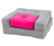 Sessel 'Dado' Grau/Pink