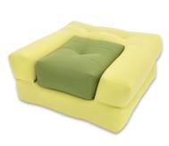 Sessel 'Dado' mini hellgrün/dunkelgrün