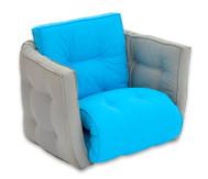 Sessel 'Sedia' grau/blau