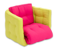 Sessel 'Sedia' pink/grau