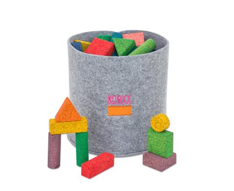 56 bunte Korxx-Bausteine verschiedene Formen