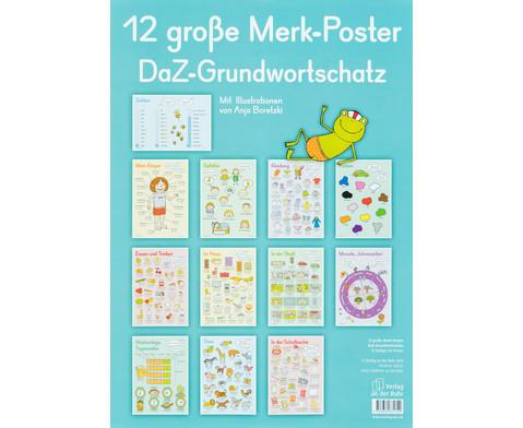 12 grosse Merk-Poster - DaZ Grundwortschatz