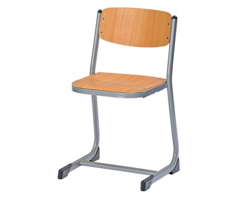 Schuelerstuhl geschlossener Sitztraeger Sitzhoehe 46 cm