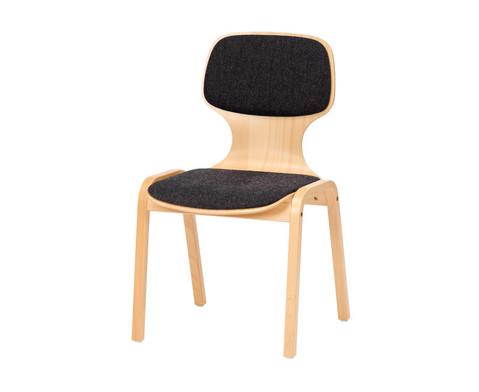 Holzstuhl mit Sitz- und Ruecken-Polster-1