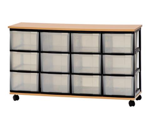 Container-System mit Holz-Ablage  12 grossen Schueben-1