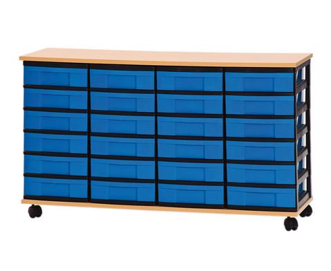 Container-System mit Holz-Ablage 24 kleine Schuebe-1