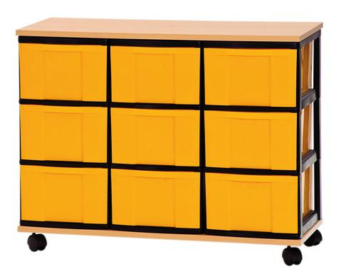 Container-System mit Holz-Ablage 9 grosse Schuebe-1