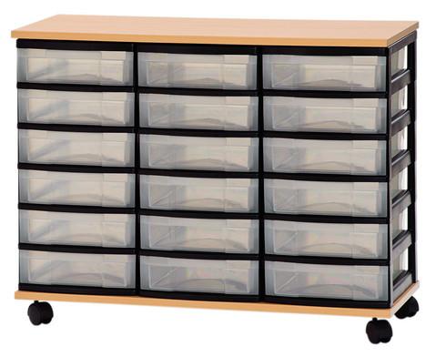 Container-System mit Holz-Ablage 18 kleine Schuebe-1