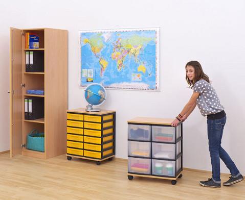 Container-System mit Holz-Ablage 12 kleine Schuebe-2