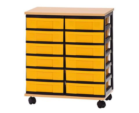 Container-System mit Holz-Ablage 12 kleine Schuebe-1