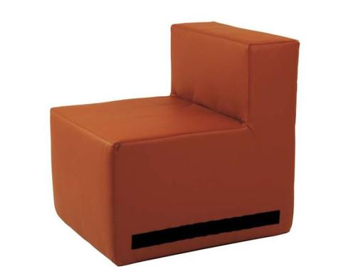 Kuschelelement Sessel aus Kunstleder-3