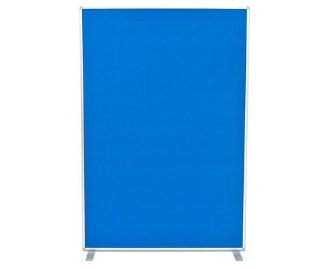 Raumteiler aus Textil blau