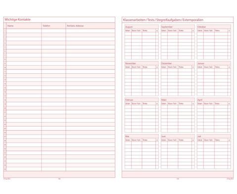 TimeTex Schulplaner 2016-2017 Format A4 plus-3