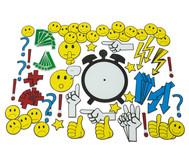 Magnetische Emoticons und Diskussionssymbole für die Tafel, 91 Teile